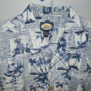 Tommy Bahama Blue White Hawaiian Shirt